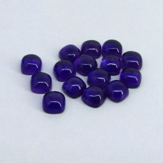 41.80 Cts. African Amethyst 8mm Cushion Shape Cabochon Parcel (15 Pcs.)
