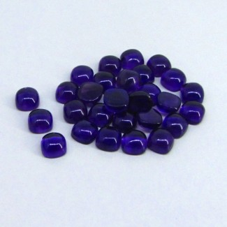 86.80 Cts. African Amethyst 8mm Cushion Shape Cabochon Parcel (30 Pcs.)