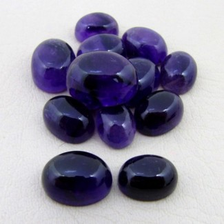 113.80 Cts. African Amethyst 11x9-18x13mm Oval Shape Cabochon Parcel (13 Pcs.)