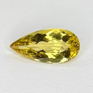 5.36 Cts. Yellow Beryl 18.5x9mm Regular Cut Pear Shape Loose Gemstone - SKU:158238