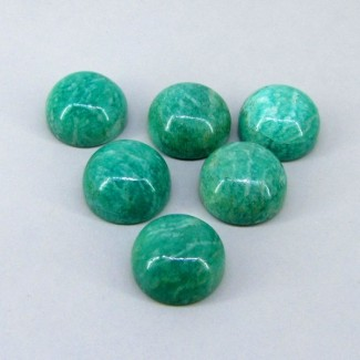 194.75 Cts. Amazonite 20mm Round Shape Cabochon Parcel (6 Pcs.)