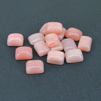 28.80 Cts. Pink Opal 9x7mm Cushion Shape Cabochon Parcel (15 Pcs.)