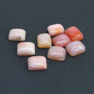 27 Cts. Pink Opal 11x9mm Cushion Shape Cabochon Parcel (8 Pcs.)
