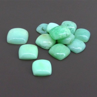 118.10 Cts. Chrysoprase 12-18mm Square Cushion Shape Cabochon Parcel (13 Pcs.)