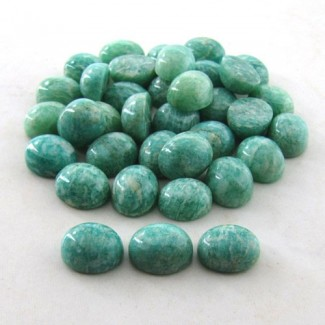 196.1 Cts. Amazonite 10x12mm Oval Shape Cabochon Parcel (36 Pcs.)