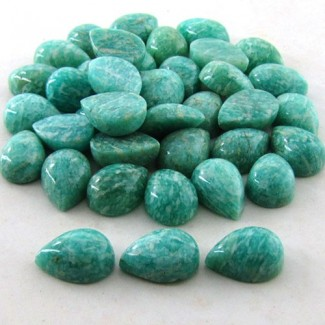 230.1 Cts. Amazonite 14x10mm Pear Shape Cabochon Parcel (39 Pcs.)