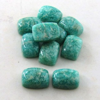 80 Cts. Amazonite 14x10mm Cushion Shape Cabochon Parcel (10 Pcs.)