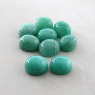 62.35 Cts. Amazonite 12x10mm Oval Shape Cabochon Parcel (9 Pcs.)