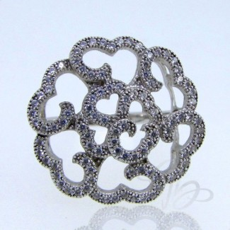 Diamond White CZ 925 Sterling Silver Ring