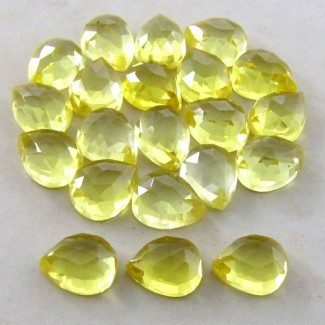 88.90 Cts. Lab Yellow Sapphire 10x8mm Pear Shape Cabochon Parcel 21 Pcs.
