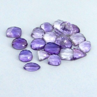 92.55 Cts. Pink Amethyst 10-12.5mm Mixed Shape Cabochon Parcel (22 Pcs.)