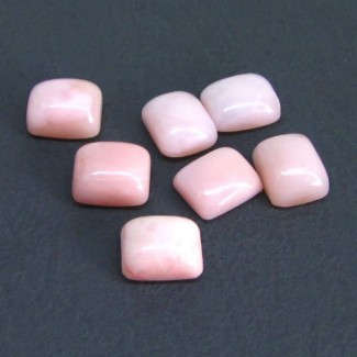36.75 Cts. Pink Opal 12x10mm Cushion Shape Cabochon Parcel (7 Pcs.)