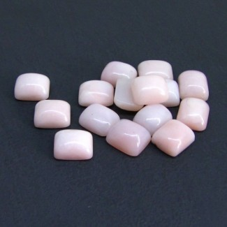 83.50 Cts. Pink Opal 12x10mm Cushion Shape Cabochon Parcel (15 Pcs.)