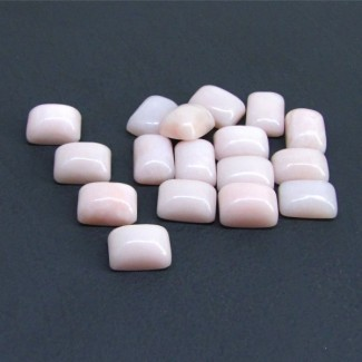 126.50 Cts. Pink Opal 14x10mm Cushion Shape Cabochon Parcel (17 Pcs.)