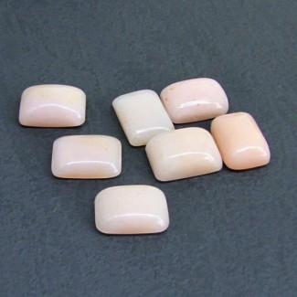 35.50 Cts. Pink Opal 14x10mm Cushion Shape Cabochon Parcel (7 Pcs.)