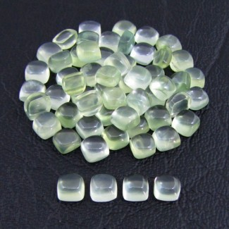 42.70 Cts. Prehnite 5mm Square Cushion Shape Cabochon Parcel (58 Pcs.)