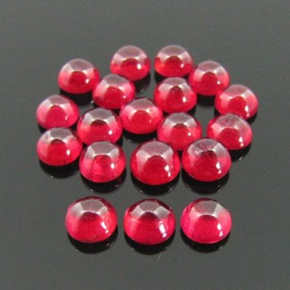 8.50 Cts. Ruby 6mm Round Shape Cabochon Parcel (6 Pcs.)