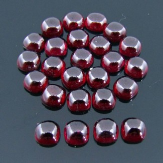 40.15 Cts. Rhodolite Garnet 6mm Square Cushion Shape Cabochon Parcel (25 Pcs.)