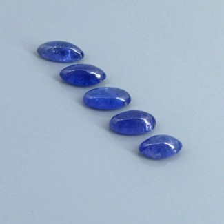 15.68 Cts. Tanzanite 2.62-3.3Carat Mixed Shape Cabochon Parcel (5 Pcs.)