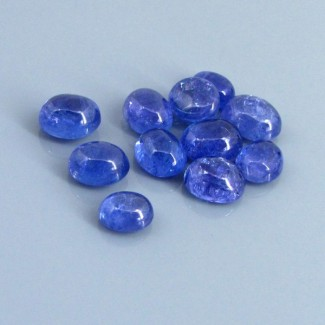 32.70 Cts. Tanzanite 8x6.5-10x8mm Oval Shape Cabochon Parcel (11 Pcs.)