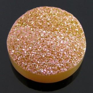 21.5 Ct. Bronze Beauty Color 20mm Round Shape Drusy Quartz