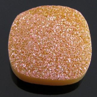 21.5 Ct. Bronze Beauty Color 20mm Cushion Shape Drusy Quartz
