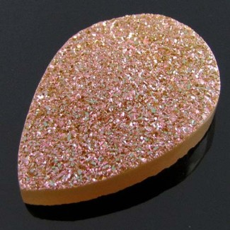 48.65 Ct. Bronze Beauty Color 34x24mm Pear Shape Drusy Quartz