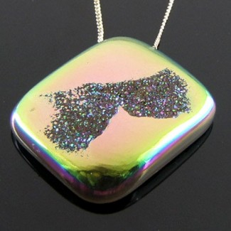 53.8 Ct. Lime Light Color 32x27mm Cushion Shape Drusy Quartz