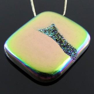 48.9 Ct. Lime Light Color 33x28mm Cushion Shape Drusy Quartz