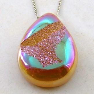 43.85 Ct. Bronze Beauty Color 31x22mm Pear Shape Drusy Quartz